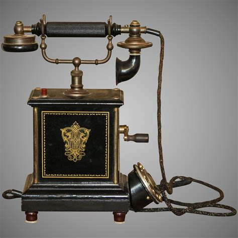 Antique Telephone marked ALLM