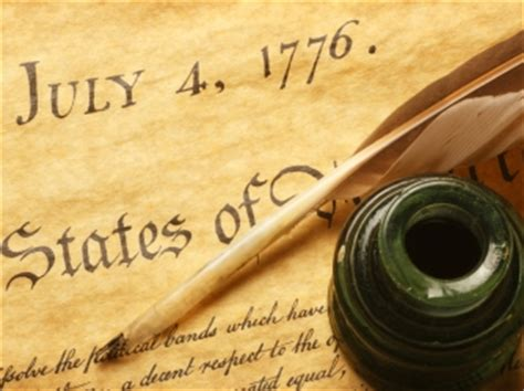 Writing of Declaration of Independence - American