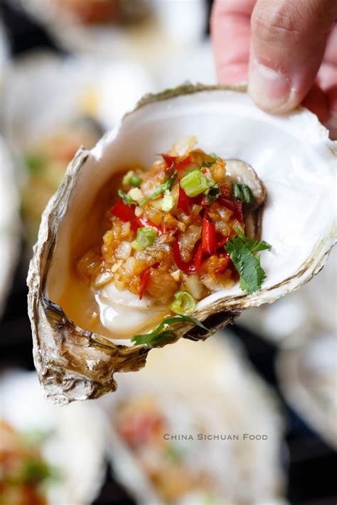Oyster with Garlic Sauce   China Sichuan Food