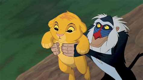 """Simba And Rafiki In The """"the Lion King"""