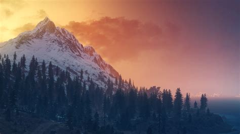 Wallpaper The Witcher 3: Wild Hunt, Landscape, Panorama
