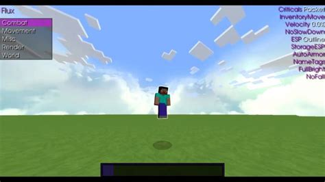 Cheat Client Flux B6 for Minecraft 1