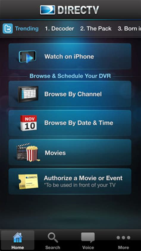 DirecTV app now supports voice navigation