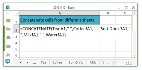 Add Cells From Different Worksheets In Excel 2010