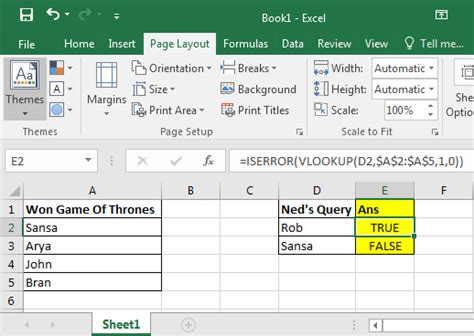 Check If a Value Exists Using VLOOKUP Formula