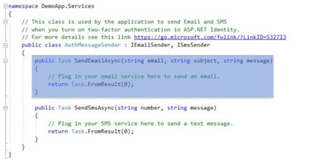 Configure Email Service In ASP