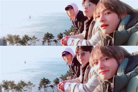 BTS's V Shares Photos From Trip With Park Seo Joon And
