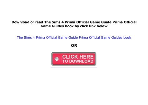 The sims 4 prima guide pdf download donkeytime
