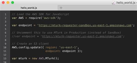Tutorial: Getting started with MTurk and Node