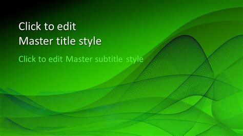 Free Green Design PowerPoint Template - Free PowerPoint