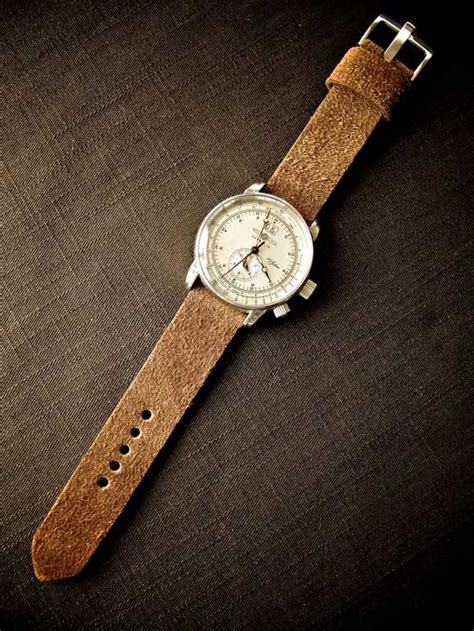 Handmade Suede Leather Watch Straps   SOLETOPIA