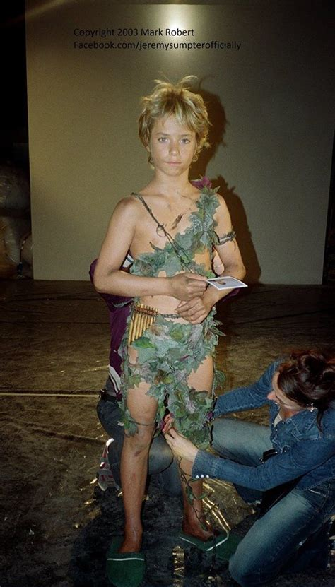 Jeremy Sumpter having his costume checked   Jeremy sumpter